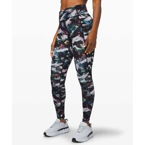 """Lululemon Fast and Free Tight 25"""" Non-Reflective"""